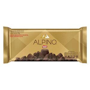 Chocolate Alpino tablete 90g na promoção leve 4 pague 3