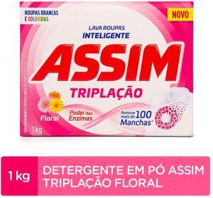 [PRIME] Sabão em Pó Assim Triplação Floral - 1kg - 5 un. | R$5