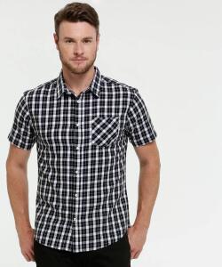 ENCERRADO - Camisa Masculina Estampa Xadrez Manga Curta MR Tamanho g R$ 5