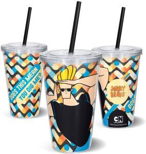 [PRIME] Copo Johnny Bravo 600 ml - Beek Geek's Stuff | R$ 18
