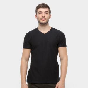 [APP] Camiseta Malwee Slim Masculina - Preto | R$13