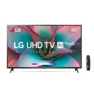 "Smart TV LG 50"" UHD 4K Controle Smart Magic ThinQ Ai 50UN7310PSC"