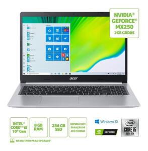 Notebook Acer Aspire 5 A515-54g-53gp Ci5 8gb 256gb Placa de Vídeo MX250 2gb