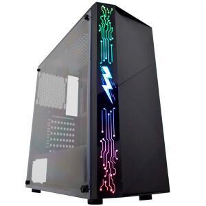 GABINETE GAMER CG-11A8 RAIDEN I RGB PRETO K-MEX UND - R$183,06