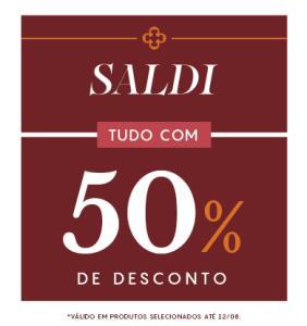 50% OFF em toda a aba de saldão | Capodarte