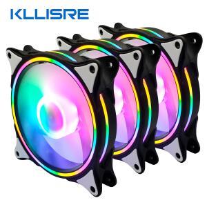 Cooler Kllisre 4pin LED Fã 120mm Silencioso 89 CFM   R$156