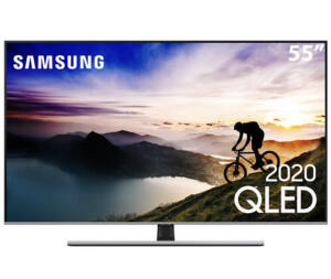 "Samsung TV 55"" QLED 4K Q70T | R$ 3.838"