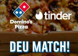 [Domino's Pizza] 1 Mês de Tinder Plus Grátis + 50% OFF em pizzas M ou G