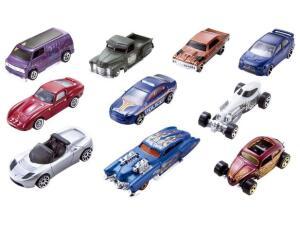 Pacote de 10 Carros Hot Wheels Mattel - 54886 (á vista)