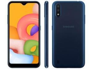 Smartphone Samsung Galaxy A01 32GB Azul Octa-Core - R$ 658
