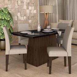 [AME: R$324] Conjunto Sala De Jantar 4 Cadeiras Italia Imbuia