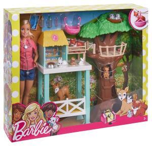 Boneca Barbie Cuidadora Dos Bichinhos, Mattel, Barbie Profissões, Loira