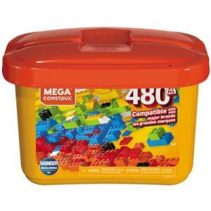 Blocos de Montar - Mega Construx - Wonder Builders - Caixa Core - 480 Peças R$ 86
