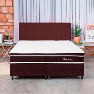 [Com AME R$1.440] Cama Box Colchão King Pillow Top Mola Ensacada e Espuma Selada Confort