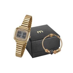 Relógio Feminino Digital Mondaine 53717LPMVDE1K2 com Pulseira - Dourado R$ 140