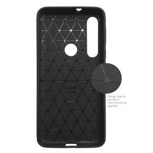 Capa protetora para Motorola One Macro - Preto