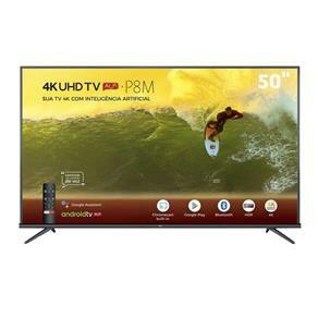 "Smart TV LED 50"" 4K TCL 50P8M com Android TV | R$1.994"