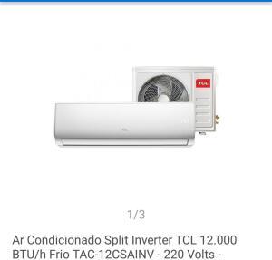 Ar condicionado TCL inverter 12000 btus | R$ 1410