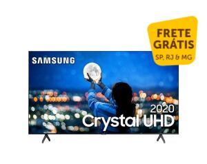 "Smart TV 58"" Samsung Crystal UHD 4K 2020 UN58TU7000 Borda ultrafina Wi-Fi HDMI"