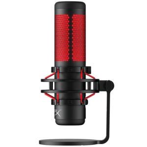 Microfone Gamer HyperX QuadCast, Antivibração, LED, Preto e Vermelho - HX-MICQC-BK - R$990