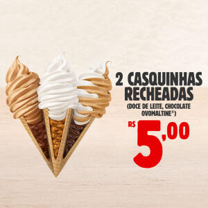 2 CASQUINHAS RECHEADAS - Burger King