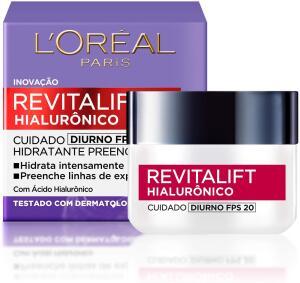 Creme Revitalift Hialurônico Diurno Fps 20, L'Oréal Paris | R$ 30