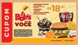 [BOBS FÃ] - 1 Sanduíche Clássico + Refri Refil + Sundae + Batata Palito Média + Molho Cheddar | R$ 19