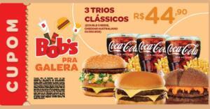 [BOBS FÃ] - 3 Trios (Double Cheese, Cheddar Australiano ou Big Bob) por R$ 45