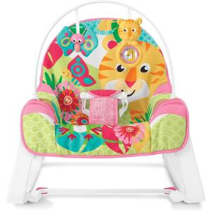 Cadeirinha Tigre Rosa, Fisher Price, Mattel | R$239