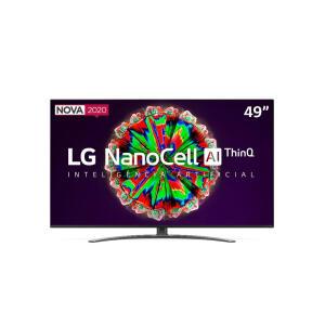 "[CC Sub+APP] Smart TV 4K NanoCell IPS 49"" LG 49NANO81S ThinQ + Smart Magic | R$2.744"