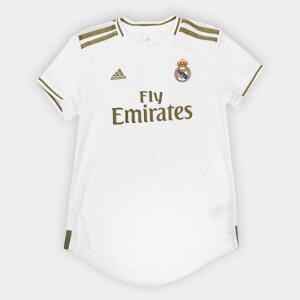 Camisa Feminina Real Madrid Home 19/20 s/n° - Branco
