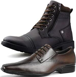 Kit Bota Casual e Sapato Social Neway Masculino | R$120