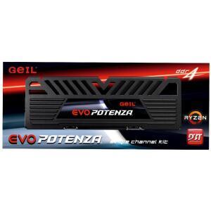 Memória DDR4 Geil Evo Potenza, 8GB 3000MHz, Black, GAPB48GB3000C16ASC