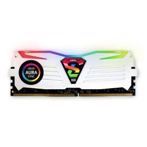 Memória DDR4 Geil Super Luce RGB, 8GB 3000MHZ, White, GALWS48GB3000C16ASC