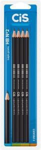 Lápis Preto Redondo CIS HB N.2 Blister 4 Unidades | R$2