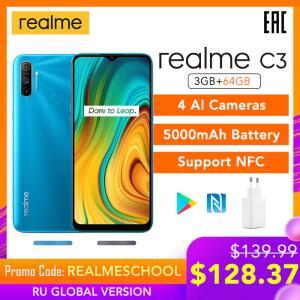 Realme c3 versão global 3gb 64gb telefone móvel R$ 751