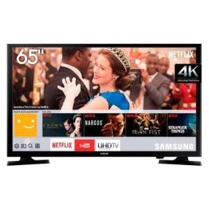 "Smart TV LED 65"" Samsung UHD 4K LH65BENELGA/ZD | R$3.299"