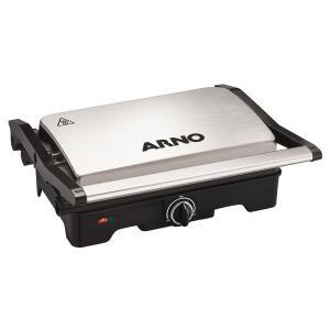 Grill Arno Dual Gnox com Antiaderente – Preto e Inox R$ 150