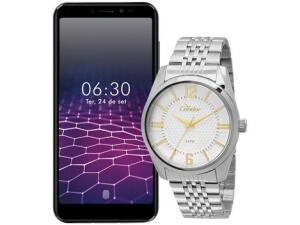 Smartphone Philco Hit PCS01 Dual SIM 64 GB + Relógio Masculino Condor | R$882
