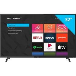 "[CC Shoptime+APP] Smart TV 32"" HD AOC RokuTV 32S5195/78G | R$1.009"