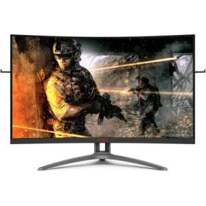 """Monitor Gamer AOC Agon 32"""" Widescreen Curvo 165Hz 1ms FreeSync Premium Preto"""