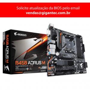 Placa Mãe Gigabyte B450 AORUS M mATX AMD DDR4 - R$R$ 791,91