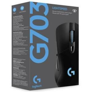 Mouse Sem Fio Gamer Logitech G703 Hero 16k Lightspeed, Recarregável, RGB Lightsync, 6 Botões, 16000 DPI - 910-005639 - R$360