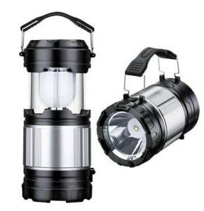 Luminária Solar Lampião Led Lanterna Elétrica Recarregável | R$ 23