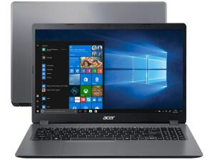 Notebook Acer Aspire 3 A315-54K-37LZ Intel Core i3 256GB   R$2849