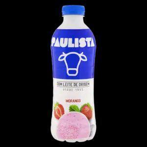 Bebida Láctea Fermentada Morango Paulista Garrafa 850g