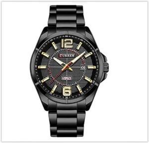 Relógio Masculino Curren Analógico 8271 - Preto e Dourado R$ 143