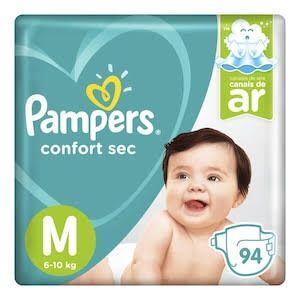 Fralda Pampers M Confort Sec Top 94 Unidades | R$60