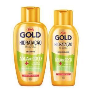 Kit Hidratação Poderosa Niely Gold - Shampoo + Condicionador | R$11