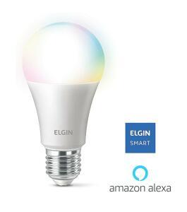 Smart Lâmpada Led Colors, 10w Bivolt Wi-FI - Elgin, compatível com Alexa | R$ 90